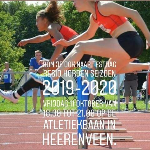 Testdag Regio horden seizoen 2019-2020
